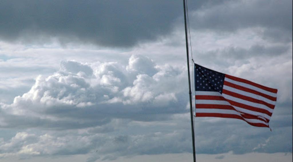 United States flag half mast